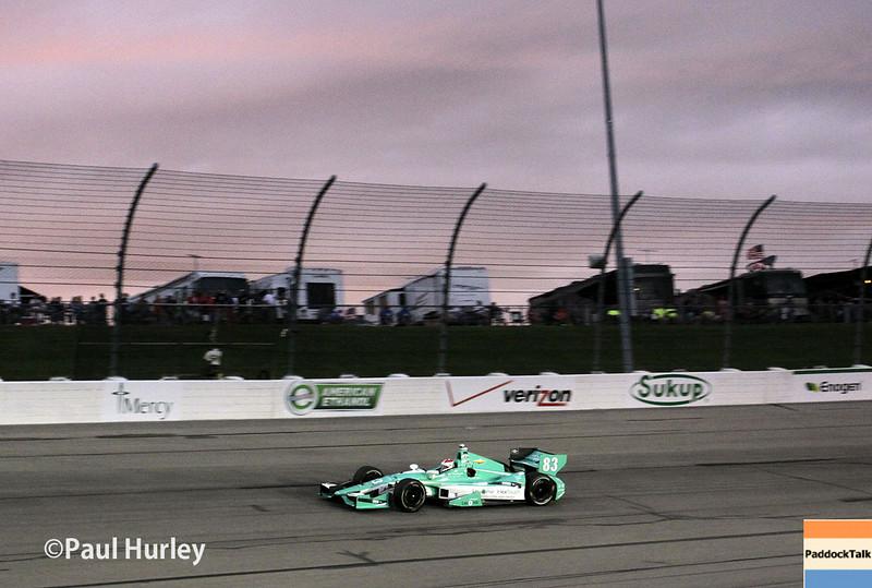 July 12: Charlie Kimball at the Iowa Corn Indy 300.