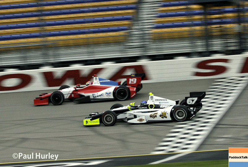 July 11: Justin Wilson and Josef Newgarden at the Iowa Corn Indy 300.
