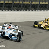 July 11: James Hinchcliffe and Ryan Hunter-Reay at the Iowa Corn Indy 300.