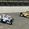 July 11: James Hinchcliffe and Ryan Hunter-Reay at the Iowa Corn Indy 300.