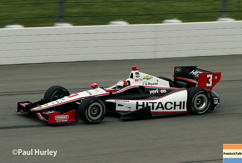 July 11: Helio Castroneves at the Iowa Corn Indy 300.