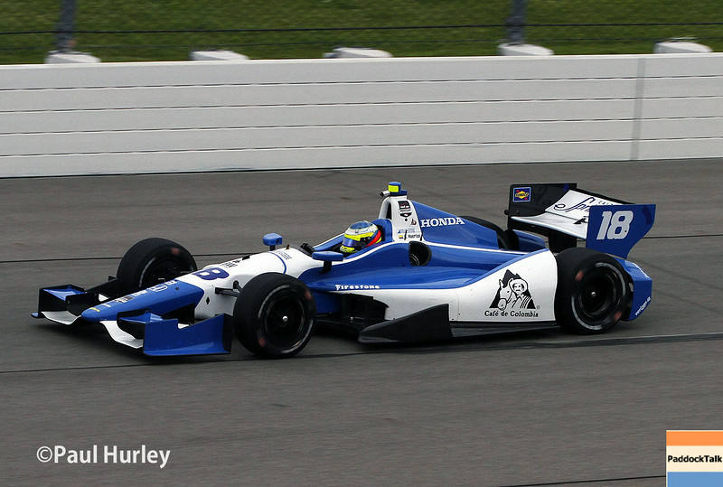 July 11: Carlos Hertas at the Iowa Corn Indy 300.