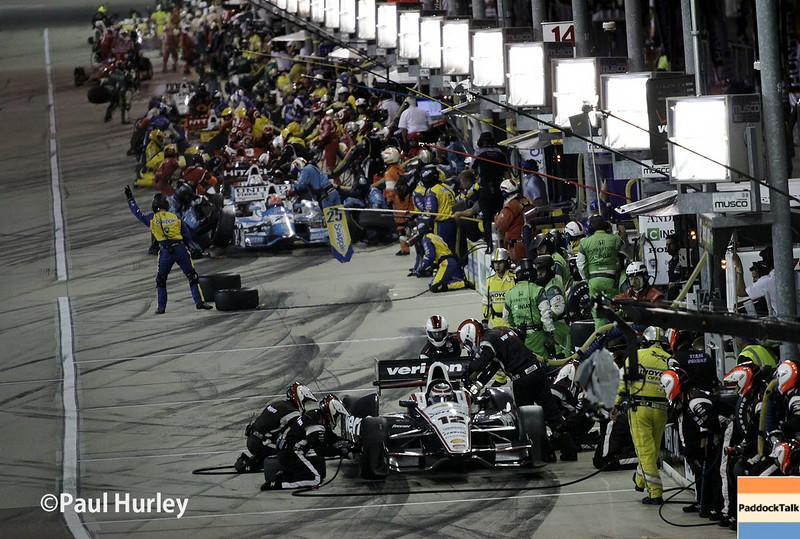 July 12: Pit lane at the Iowa Corn Indy 300.