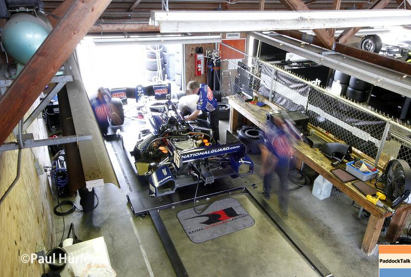 August 1-3: Graham Rahal's garage at the Honda Indy 200 at Mid-Ohio.