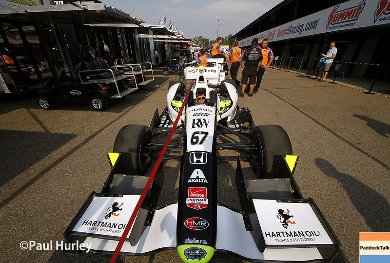 August 1-3: Josef Newgarden's car at the Honda Indy 200 at Mid-Ohio.