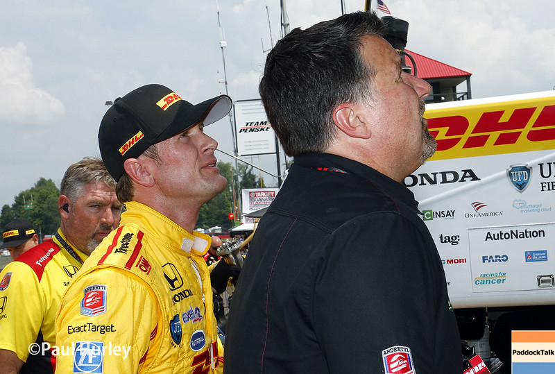 Ryan Hunter-Reay was fastest on Friday at Mid-Ohio.