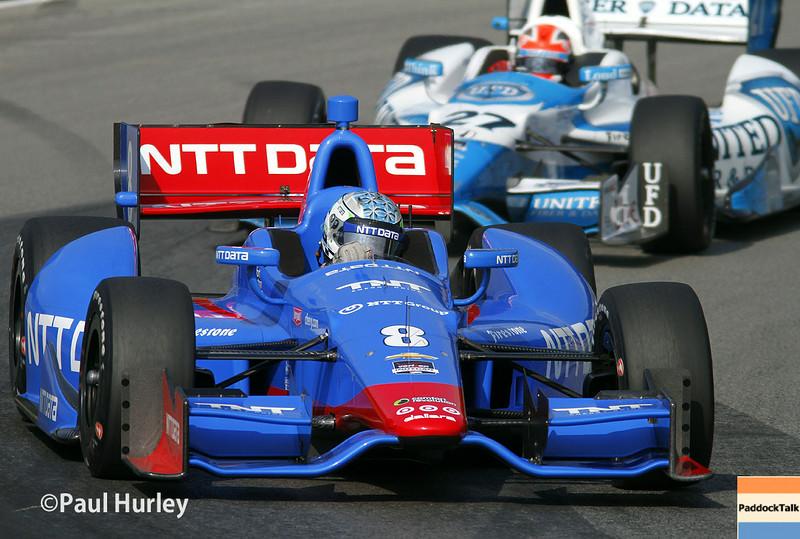 August 1-3: Ryan Briscoe and James Hinchcliffe at the Honda Indy 200 at Mid-Ohio.
