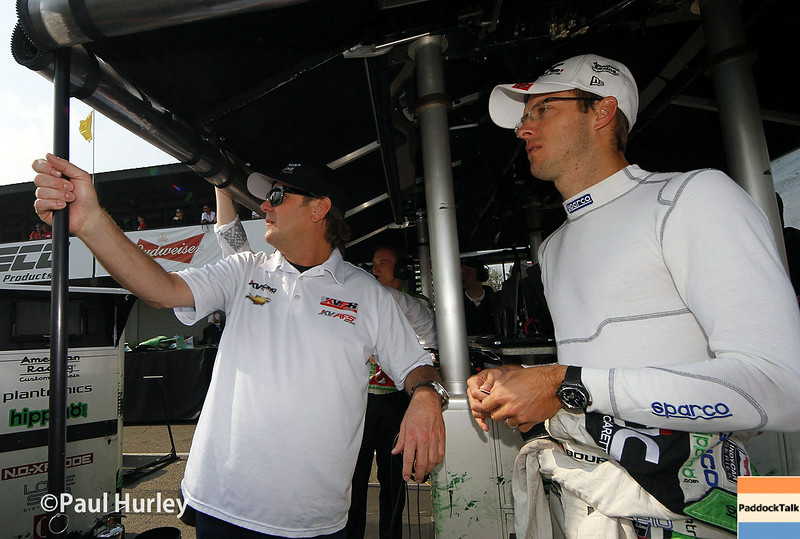 August 1-3: Jimmy Vasser and Sebastien Bourdais at the Honda Indy 200 at Mid-Ohio.