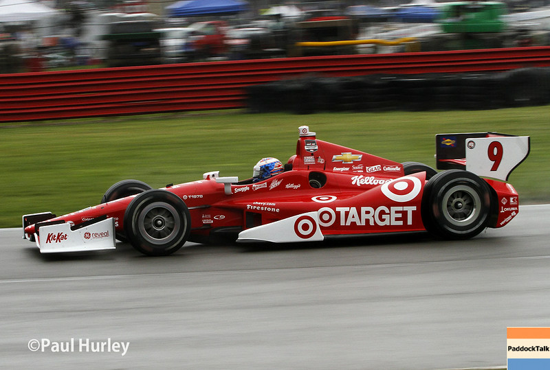 Scott Dixon and his No. 8 Target Chevrolet win the Hondy Indy 200 at Mid-Ohio Sports Car Course in Lexington, Ohio