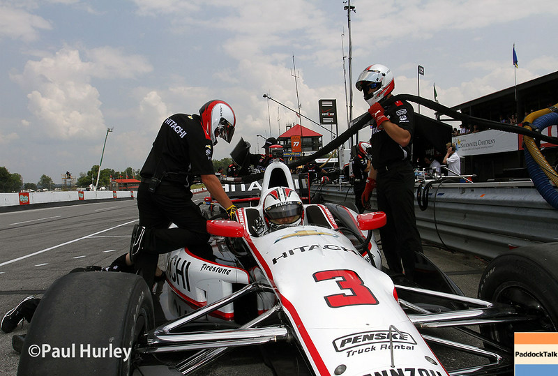August 1-3: Helio Castroneves at the Honda Indy 200 at Mid-Ohio.