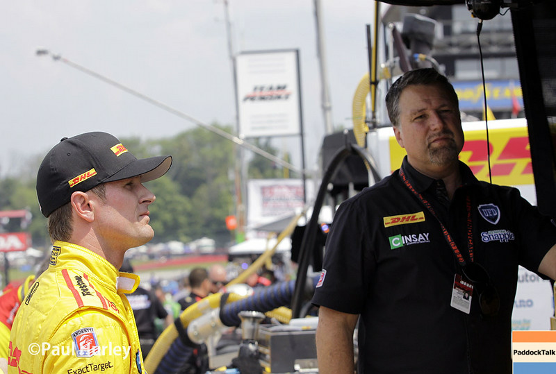 August 1-3: Ryan Hunter-Reay and Michael Andretti at the Honda Indy 200 at Mid-Ohio.
