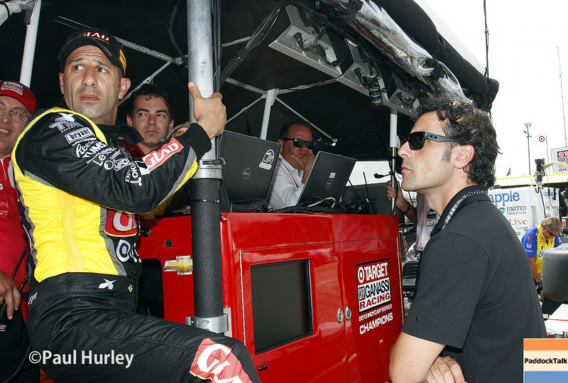 August 1-3: Tony Kanaan and Dario Franchitti at the Honda Indy 200 at Mid-Ohio.