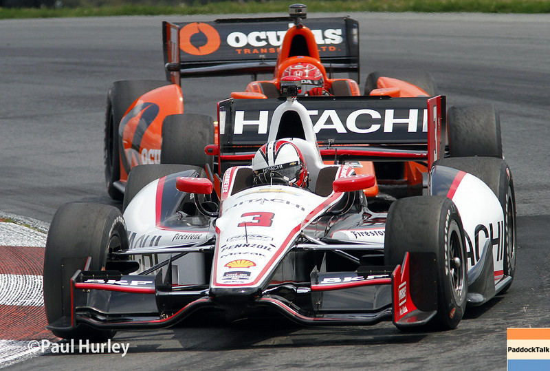 August 1-3: Helio Castroneves and Simon Pagenaud at the Honda Indy 200 at Mid-Ohio.
