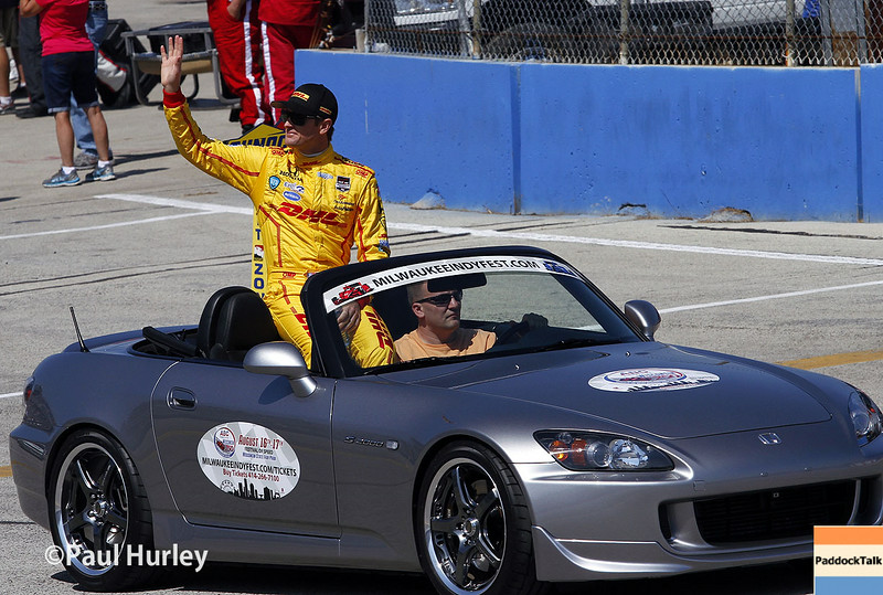August 17: Ryan Hunter-Reay at the Wisconsin 250 at Milwaukee Indyfest.