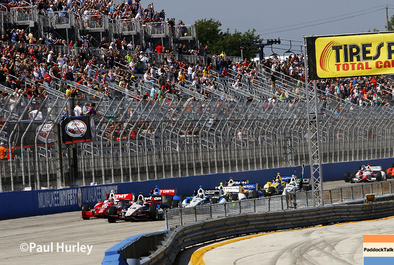 August 17: Green flag at the Wisconsin 250 at Milwaukee Indyfest.