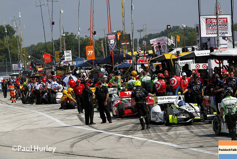 August 16: Pit action at the Wisconsin 250 at Milwaukee Indyfest.