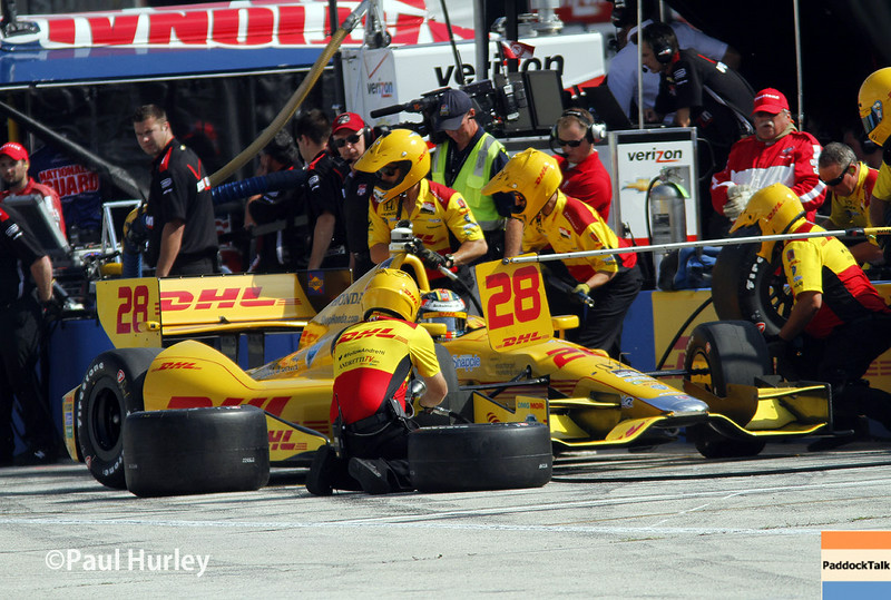 August 16: Ryan Hunter-Reay at the Wisconsin 250 at Milwaukee Indyfest.