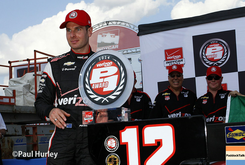 August 16: Will Power wins the pole at the Wisconsin 250 at Milwaukee Indyfest.