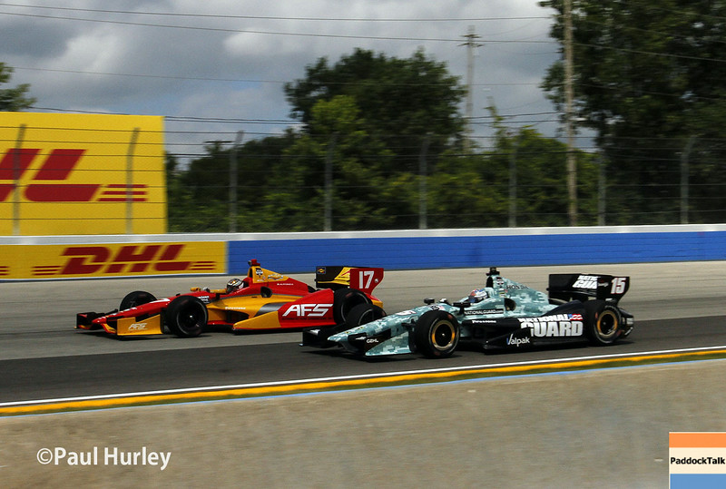 August 16: Sebastian Saavedra and Graham Rahal at the Wisconsin 250 at Milwaukee Indyfest.