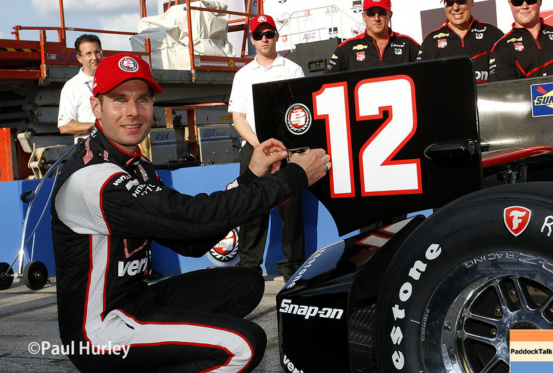 August 16: Pole winner, Will Power, at the Wisconsin 250 at Milwaukee Indyfest.