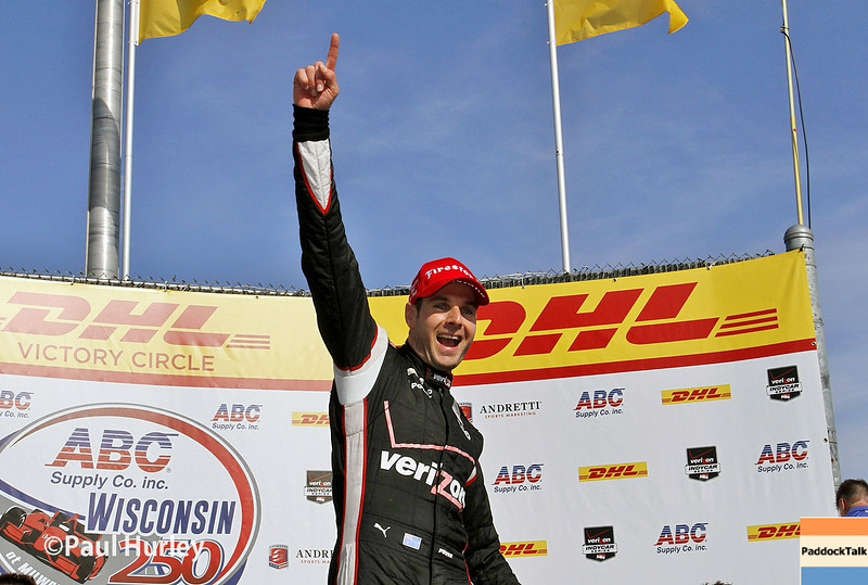 Team Penske IndyCar driver Will Power and his No. 12 Chevrolet has won the ABC Supply Wisconsin 250 at the Milwaukee Mile in Milwaukee, Wisconsin.