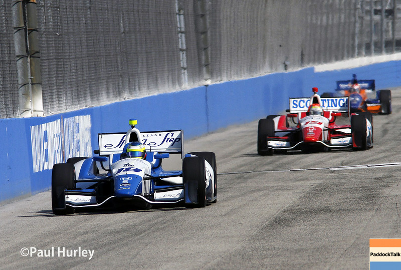 August 16: Carlos Huertas and Justin Wilson at the Wisconsin 250 at Milwaukee Indyfest.