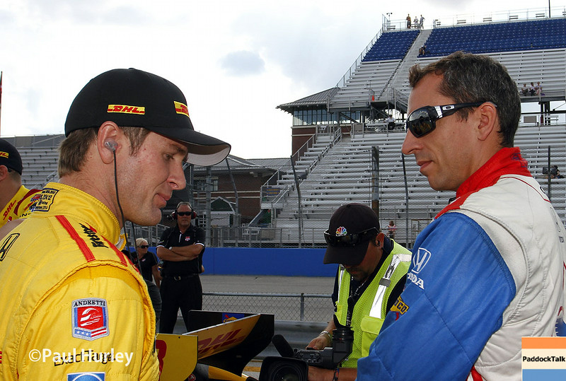 August 16: Ryan Hunter-Reay and Justin Wilson at the Wisconsin 250 at Milwaukee Indyfest.