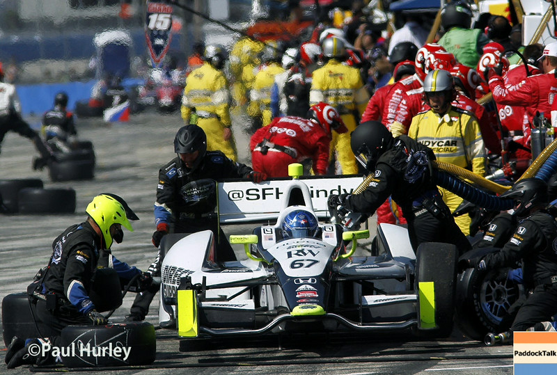 August 17: Josef Newgarden pit stop at the Wisconsin 250 at Milwaukee Indyfest.