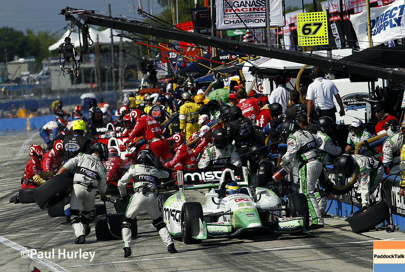 August 17: Pit stops at the Wisconsin 250 at Milwaukee Indyfest.
