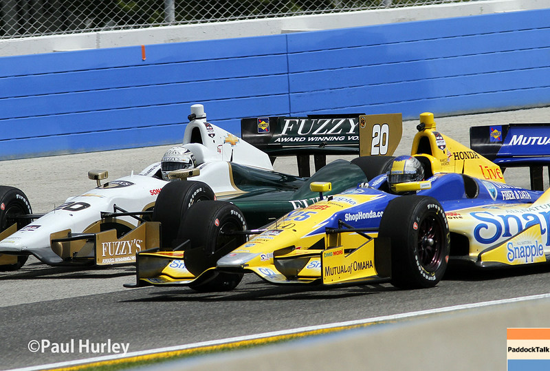 August 16: Ed Carpenter and Marco Andretti at the Wisconsin 250 at Milwaukee Indyfest.