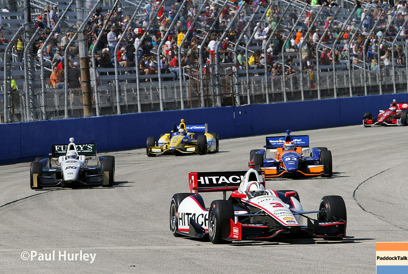 August 17: Helio Castroneves at the Wisconsin 250 at Milwaukee Indyfest.