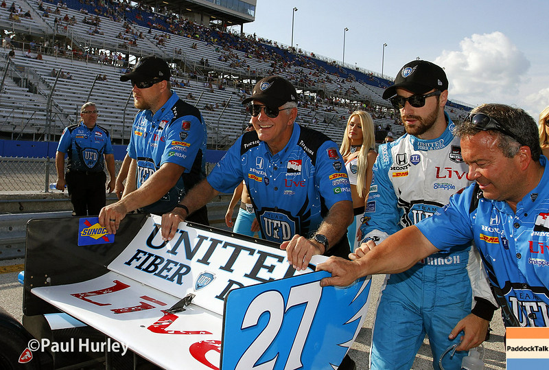 August 16:James Hinchcliffe at the Wisconsin 250 at Milwaukee Indyfest.