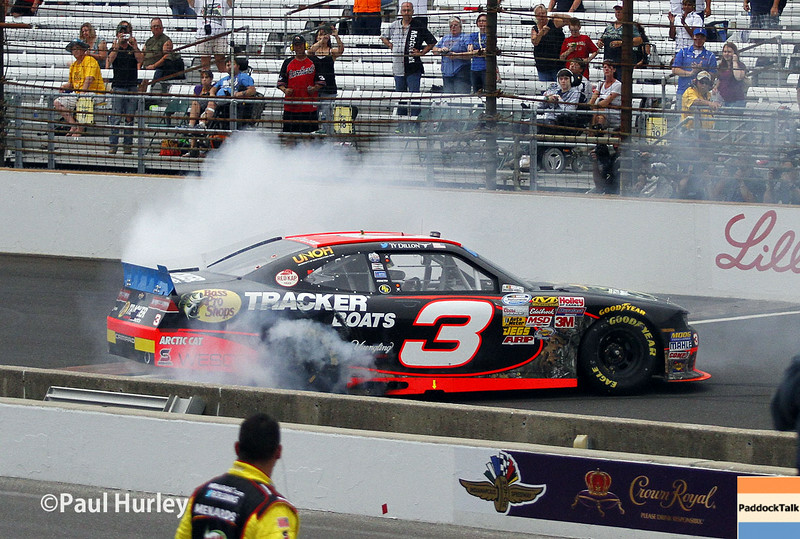 Ty Dillon and his No. 3 Bass Pro Shops Chevrolet won the 3rd Annual Lilly Diabetes 250, his first victory in 31 NASCAR Nationwide Series races.
