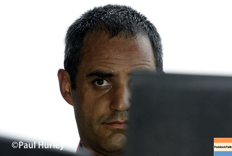 March 28: Juan Pablo Montoya during Verizon IndyCar series practice for the Firestone Grand Prix of St. Petersburg.
