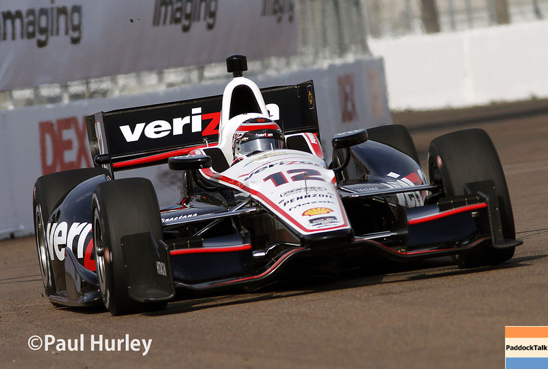 March 29: Will Power during Verizon IndyCar series qualifying for the Firestone Grand Prix of St. Petersburg.