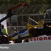March 30: Marco Andretti's crashed car during the Firestone Grand Prix of St. Petersburg Verizon IndyCar series race.