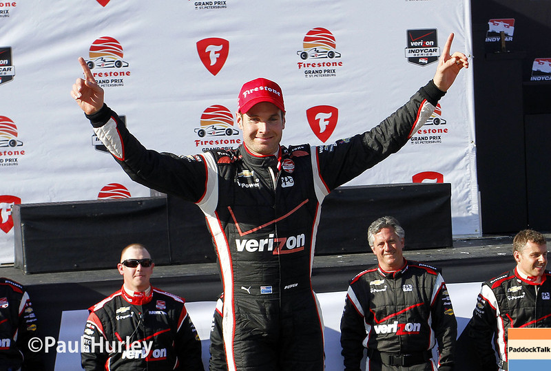 March 30: Will Power race winner during the Firestone Grand Prix of St. Petersburg Verizon IndyCar series race.