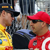 March 28: Ryan Hunter-Reay and Tony Kanaan during Verizon IndyCar series practice for the Firestone Grand Prix of St. Petersburg.