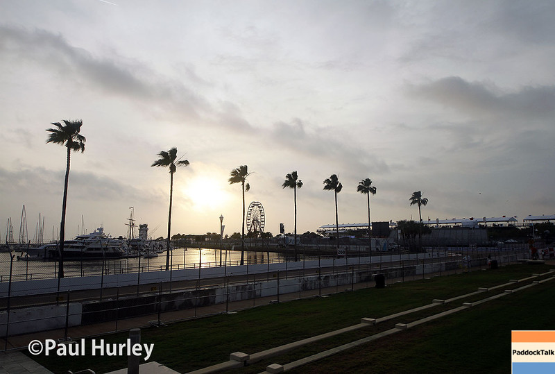 March 28: Day break during Verizon IndyCar series practice for the Firestone Grand Prix of St. Petersburg.