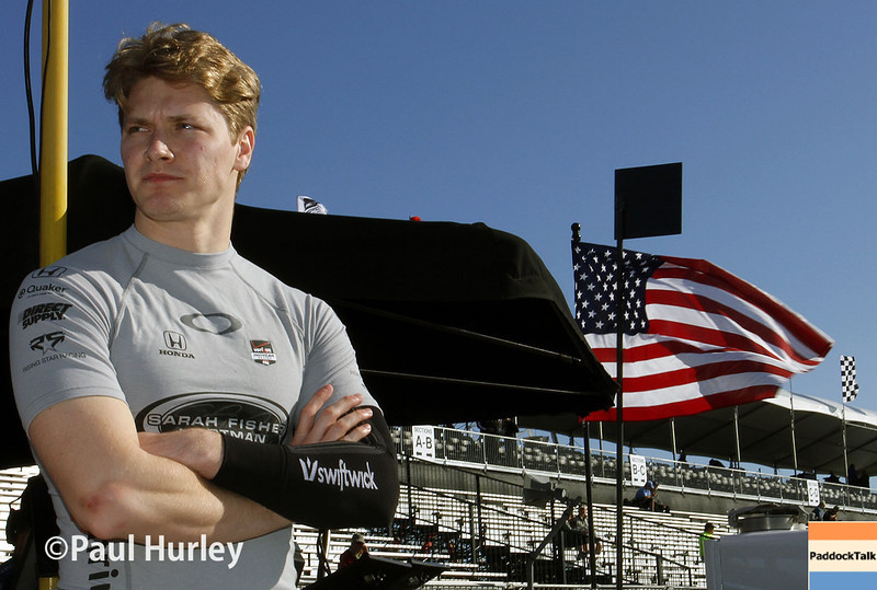 March 30:  Josef Newgarden during prerace warm-up for the Verizon IndyCar series Firestone Grand Prix of St. Petersburg.