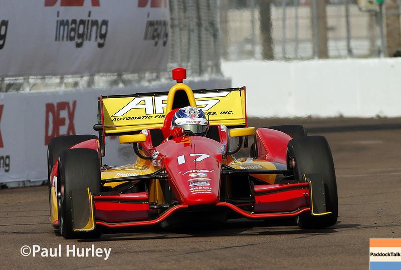 March 29:  Sebatian Saavedra during Verizon IndyCar series qualifying for the Firestone Grand Prix of St. Petersburg.
