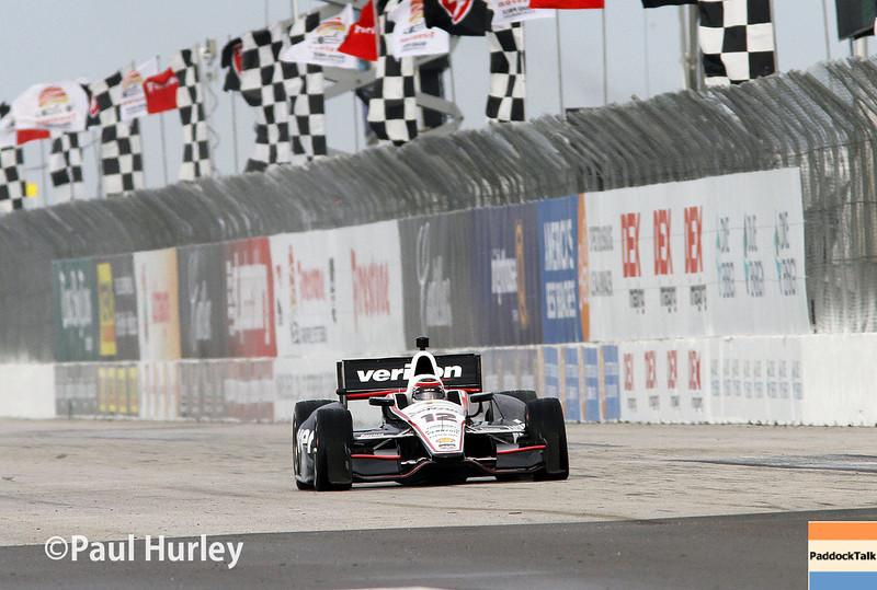 March 30:  Will Power during prerace warm-up for the Verizon IndyCar series Firestone Grand Prix of St. Petersburg.