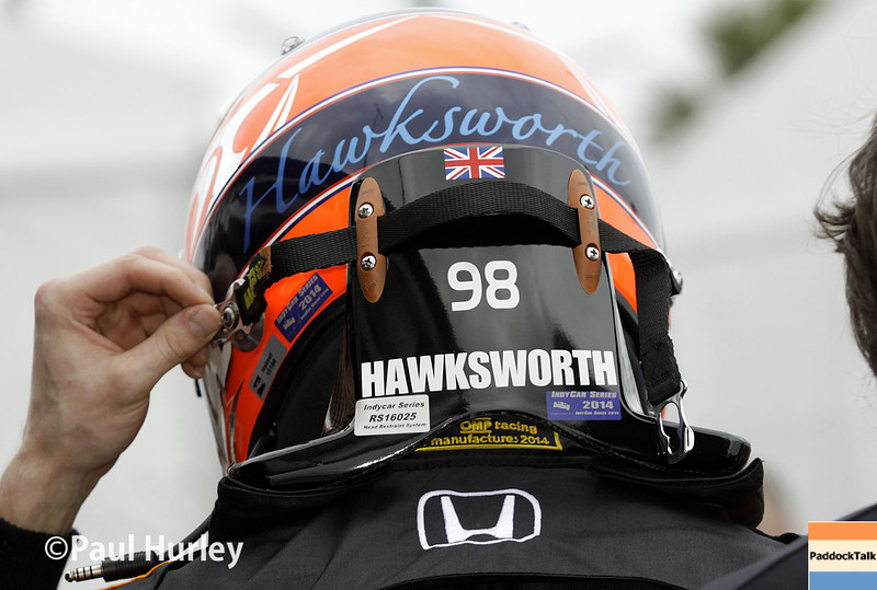 March 28: Jack Hawksworth during Verizon IndyCar series practice for the Firestone Grand Prix of St. Petersburg.