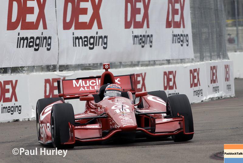 March 28: Tony Kanaan during Verizon IndyCar series practice for the Firestone Grand Prix of St. Petersburg.