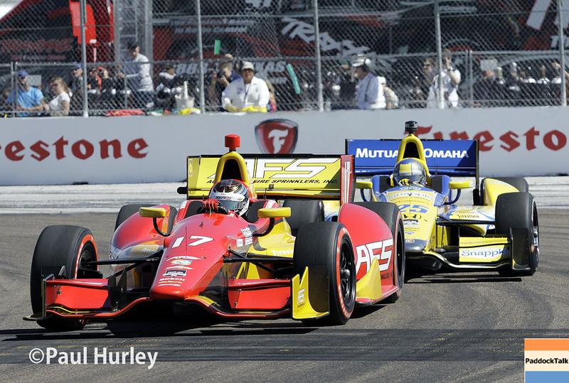 March 30: Sebastian Saavedra during the Firestone Grand Prix of St. Petersburg Verizon IndyCar series race.
