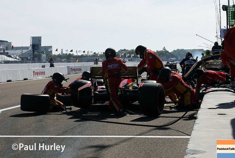 March 30: Pit stop during the Firestone Grand Prix of St. Petersburg Verizon IndyCar series race.