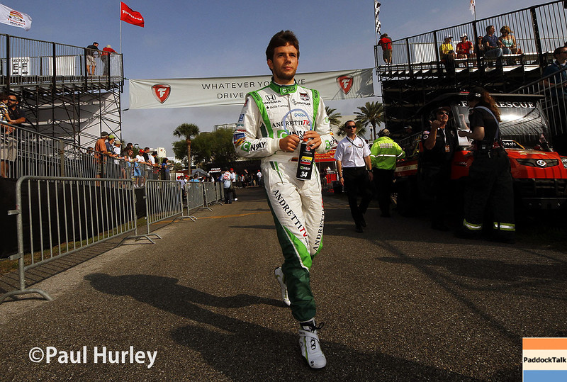 March 29:  Carlos Munoz during Verizon IndyCar series qualifying for the Firestone Grand Prix of St. Petersburg.