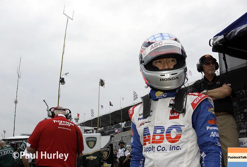 March 28: Takuma Sato during Verizon IndyCar series practice for the Firestone Grand Prix of St. Petersburg.