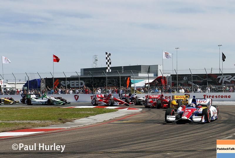 March 30: Turn 1 during the Firestone Grand Prix of St. Petersburg Verizon IndyCar series race.