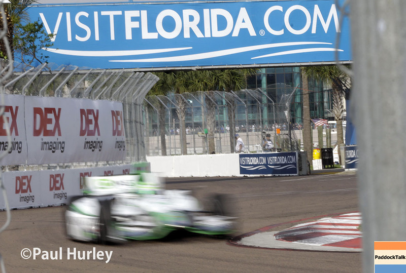 March 29:  Turn 12 during Verizon IndyCar series qualifying for the Firestone Grand Prix of St. Petersburg.